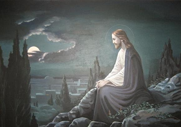 Гефсимания. Иисус в одиночестве