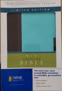 NIV Thinline Bible Chocolate/Aqua Limited Edition Zondervan